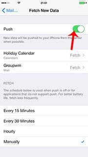 push fetch data