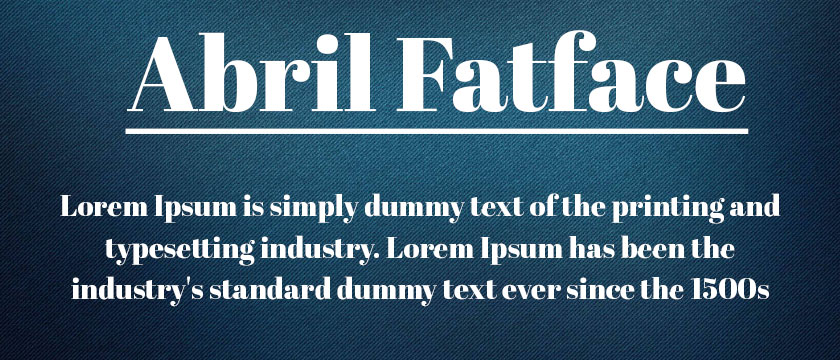 abril-fatface