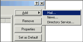 Add Mail In Outlook Express