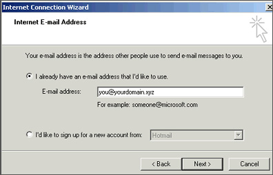 Outlook Express - EMail Address