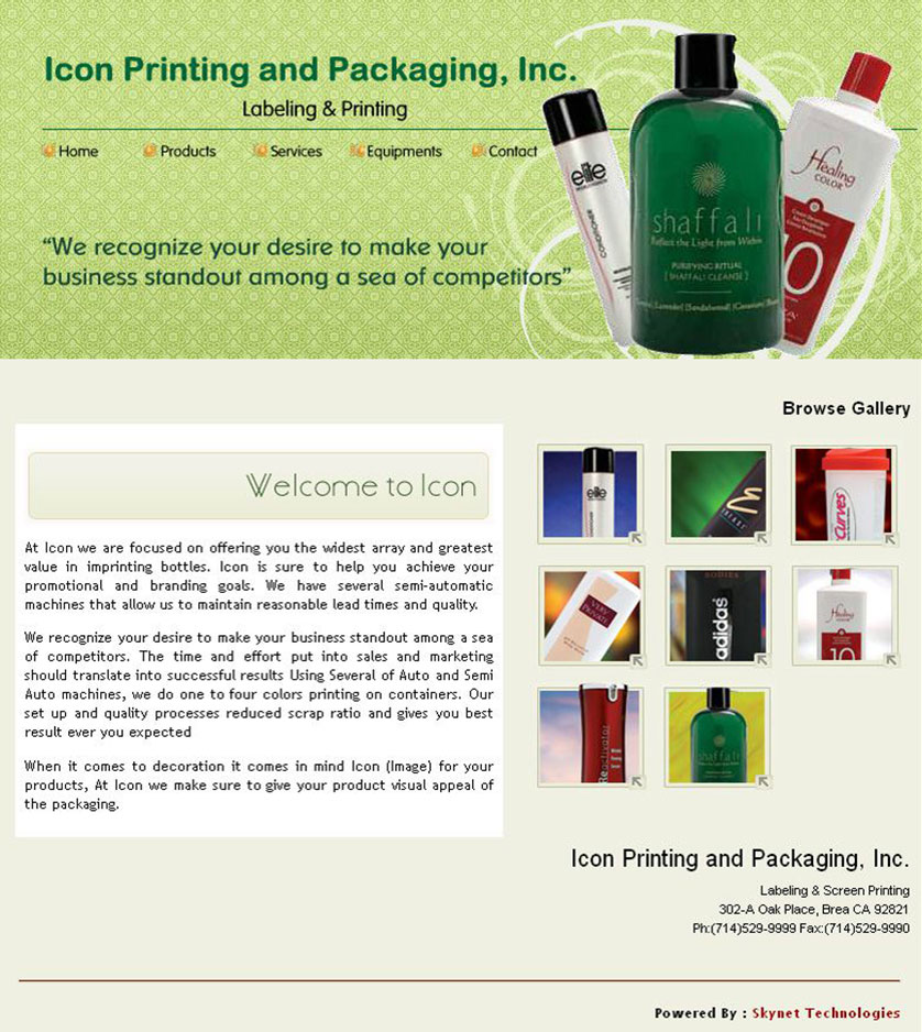 Icon Printing and Packaging Inc